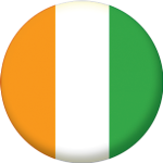 Ivory Coast Country Flag 58mm Mirror Keyring